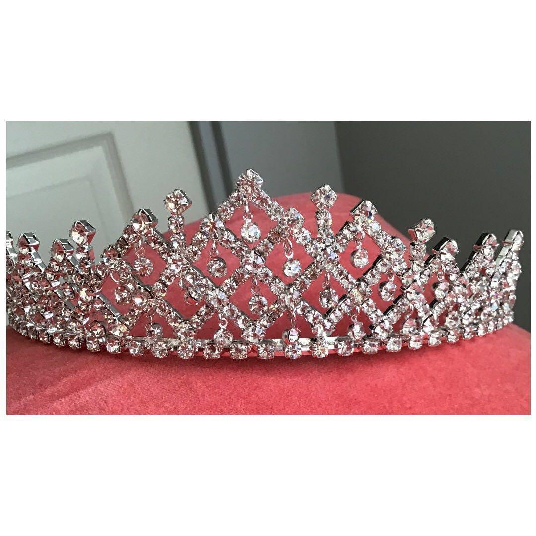 Adult/Youth CZ and Metal Tiara Crown w/Combs Pageant Princess Beauty Queen *Sweet Mother's Day Gift*