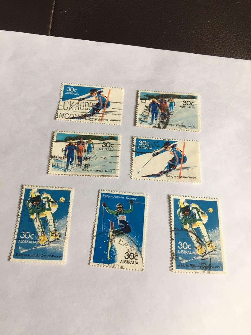 Australia 1980s Skiing x 7
