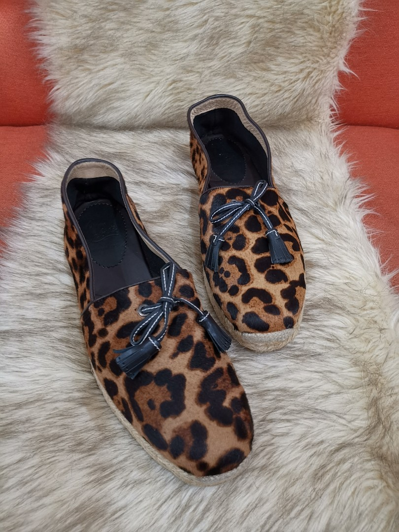 ee4f4f45948 Authentic Christian Louboutin Leopard-Print Calf Hair Espadrilles, size  41.5 to 42