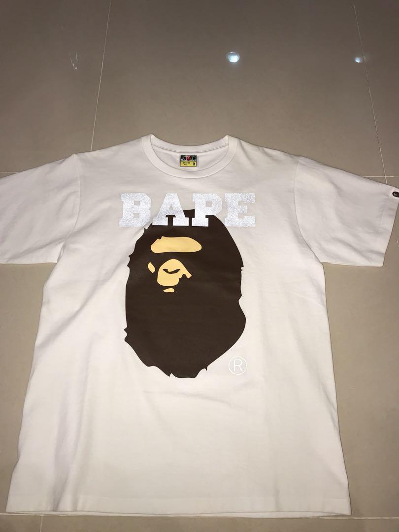 d8576feae Bape 3M reflective large Ape Head T Shirt, Men's Fashion, Clothes ...