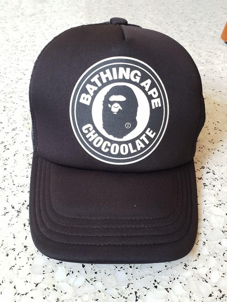 48ad20a2 BAPE A BATHING APE CHOCOOLATE MESH TRUCKER CAP/HAT BLACK LARGE ...