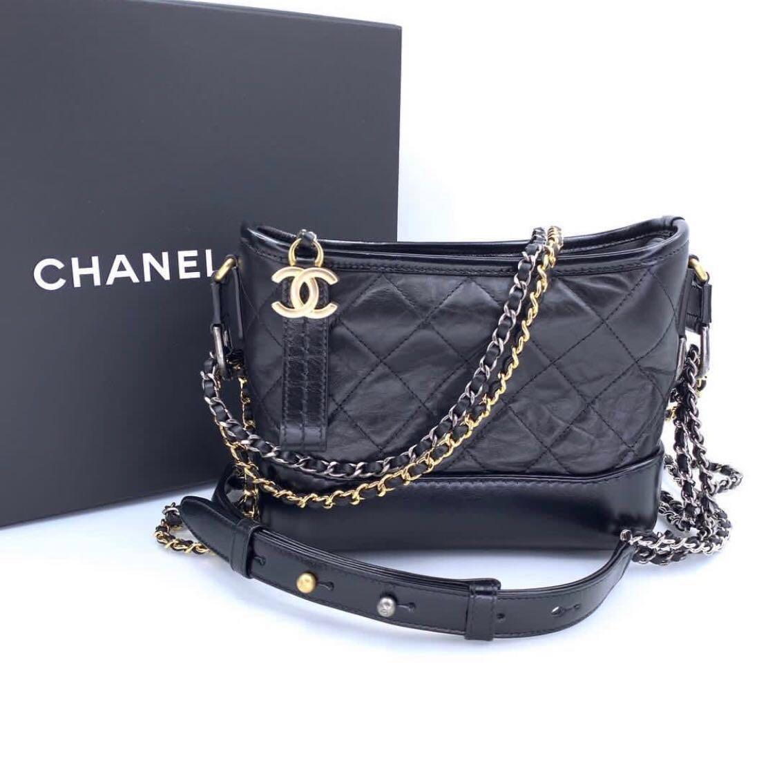 ec34d8ede9d0dd BNIB! CHANEL SMALL BLACK GABRIELLE HOBO BAG, Luxury, Bags & Wallets ...