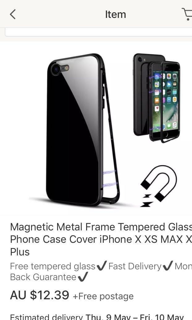 BRAND NEW tempered glass magnetic case IPHONE 8 PLUS