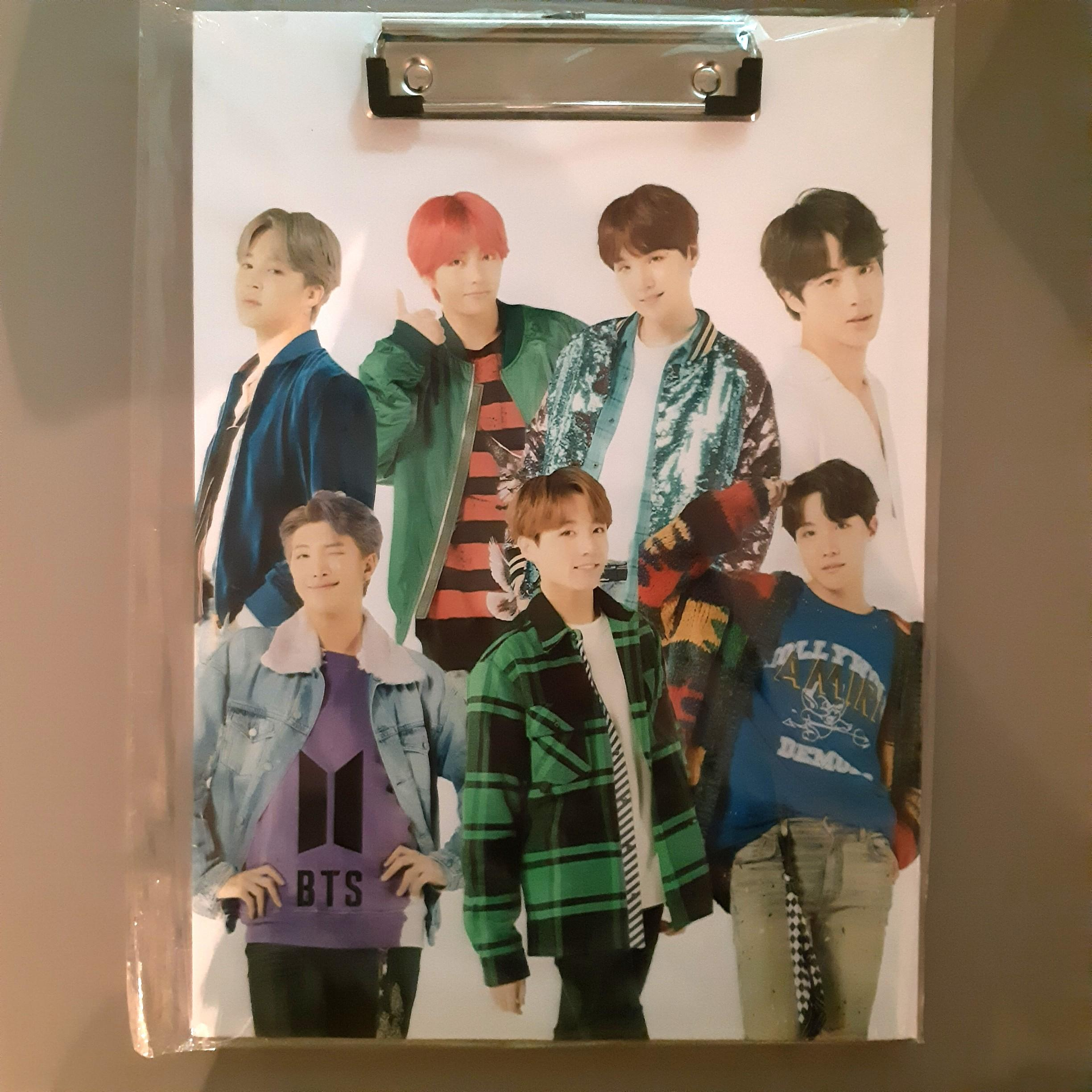 BTS Clipboard **New & Nicely Double-Sided Printed**