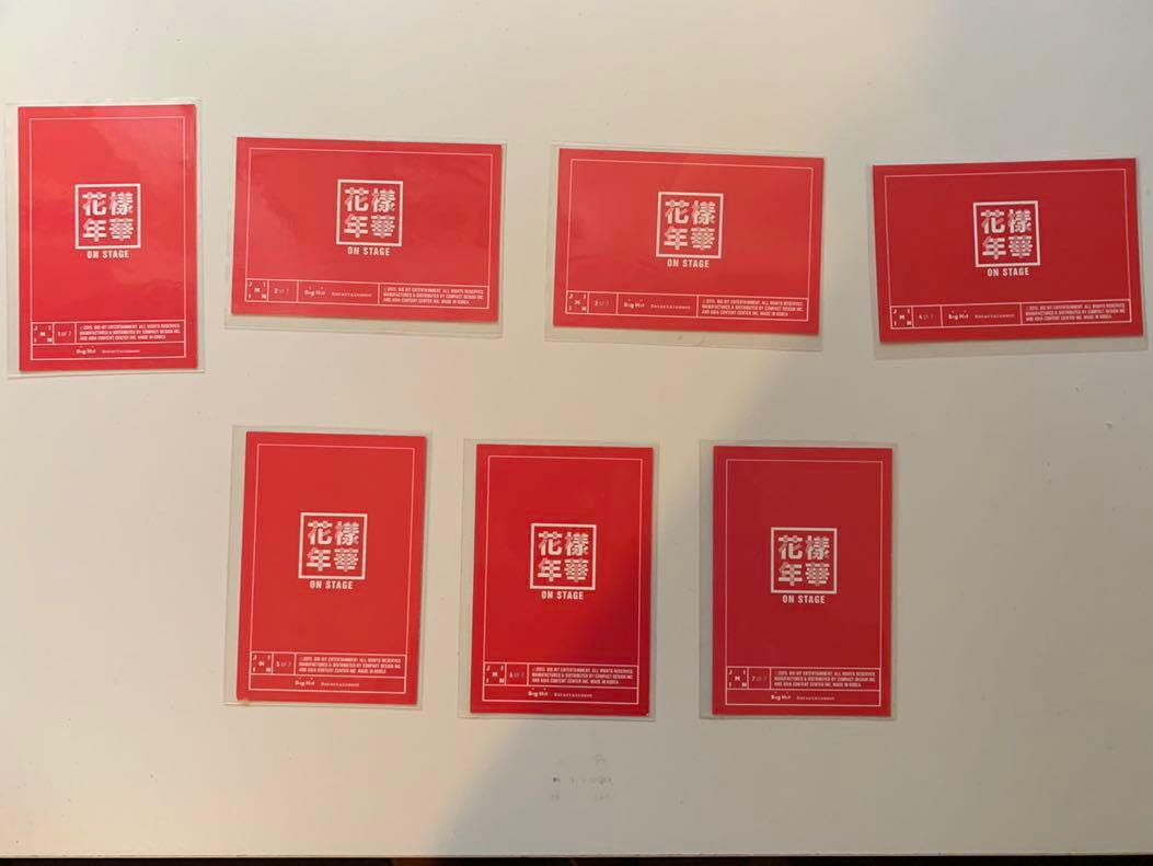 BTS HYYH Live on Stage 2015 Mini Photocards Complete Set