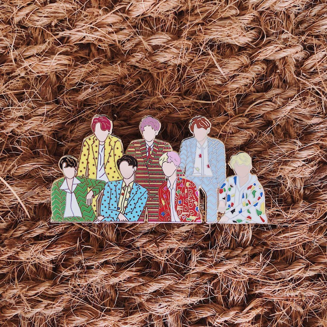 BTS Song Series Enamel Pins, Entertainment, K-Wave on Carousell