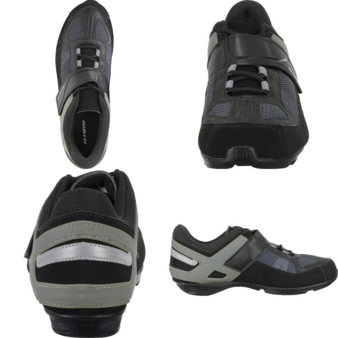[全新]Btwin 兩用單車鞋 40碼 (兼容Shimano SP cleats)