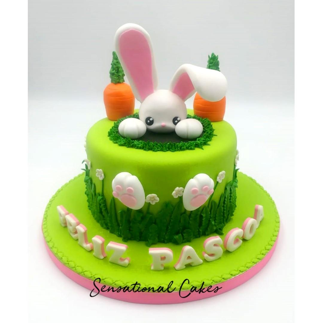 Marvelous Bunny Pet Animal With Carrot Design 3D Customized Birthday Cake Birthday Cards Printable Trancafe Filternl