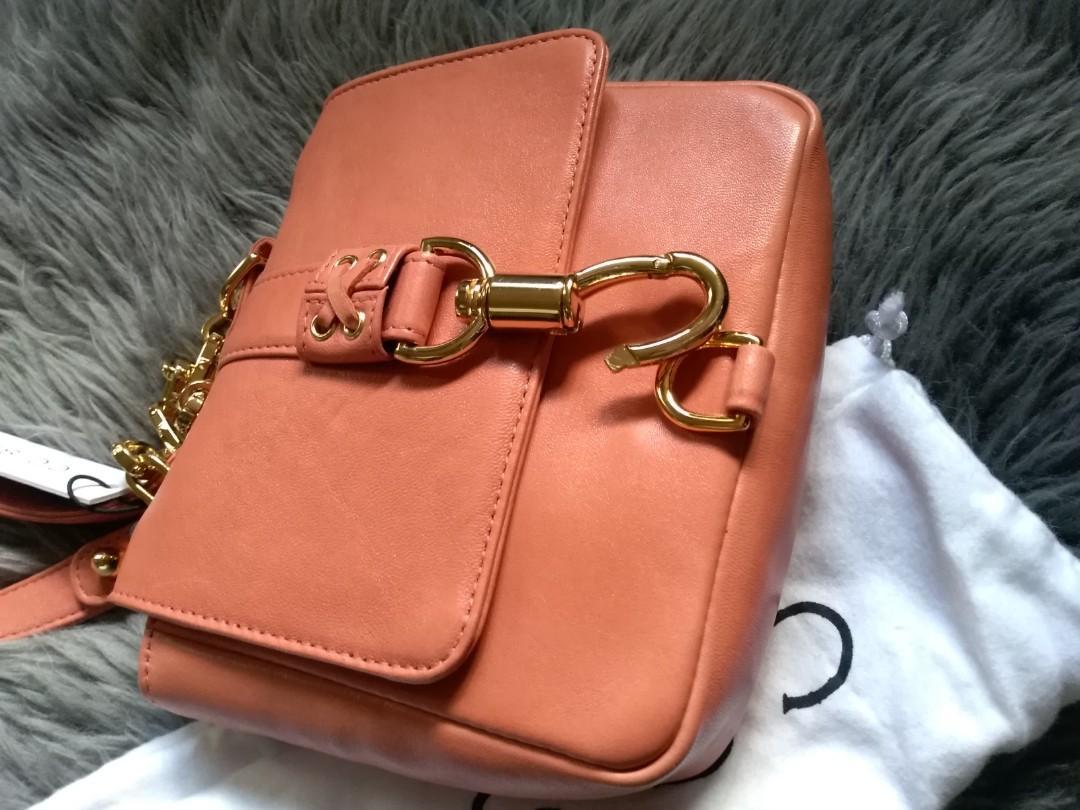 Cc Skye Annie Hall Crossbody bag Coral Pink