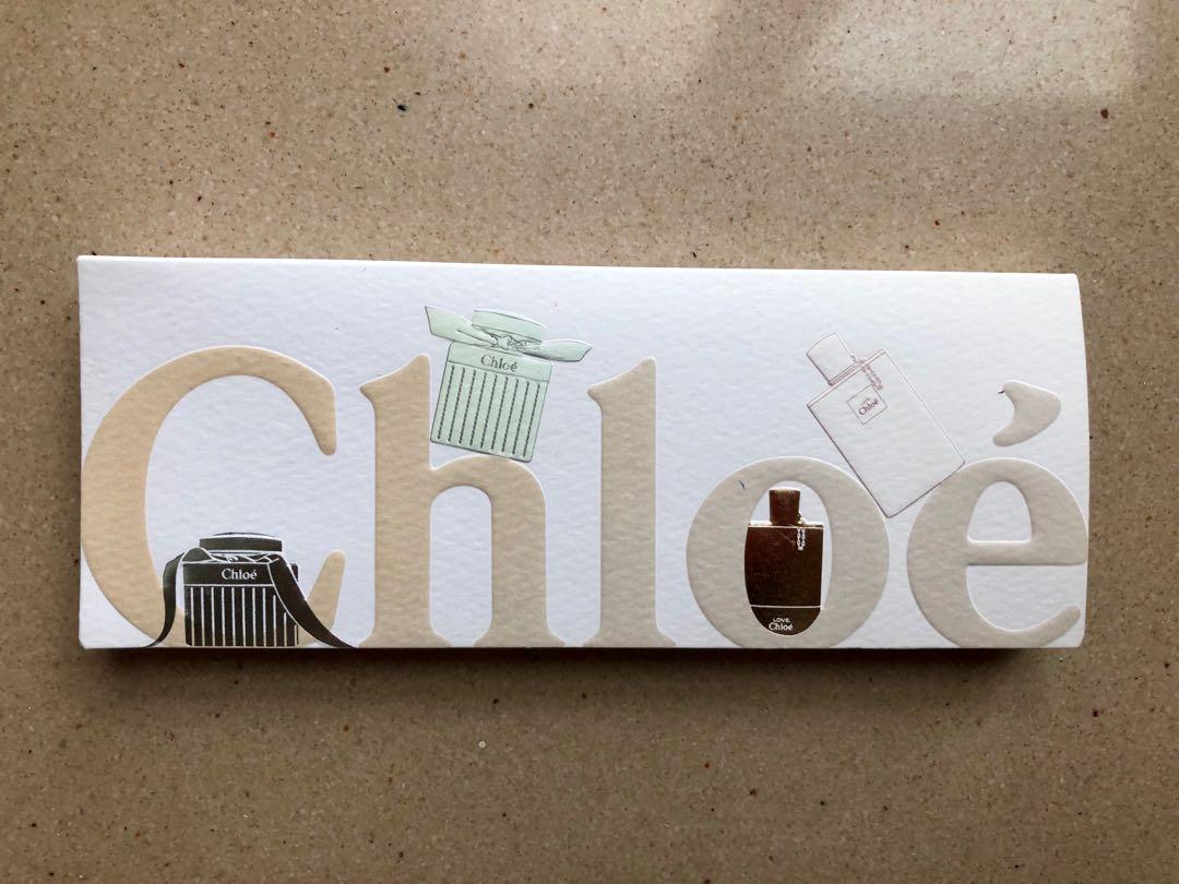 Chloe 香水 memo 紙