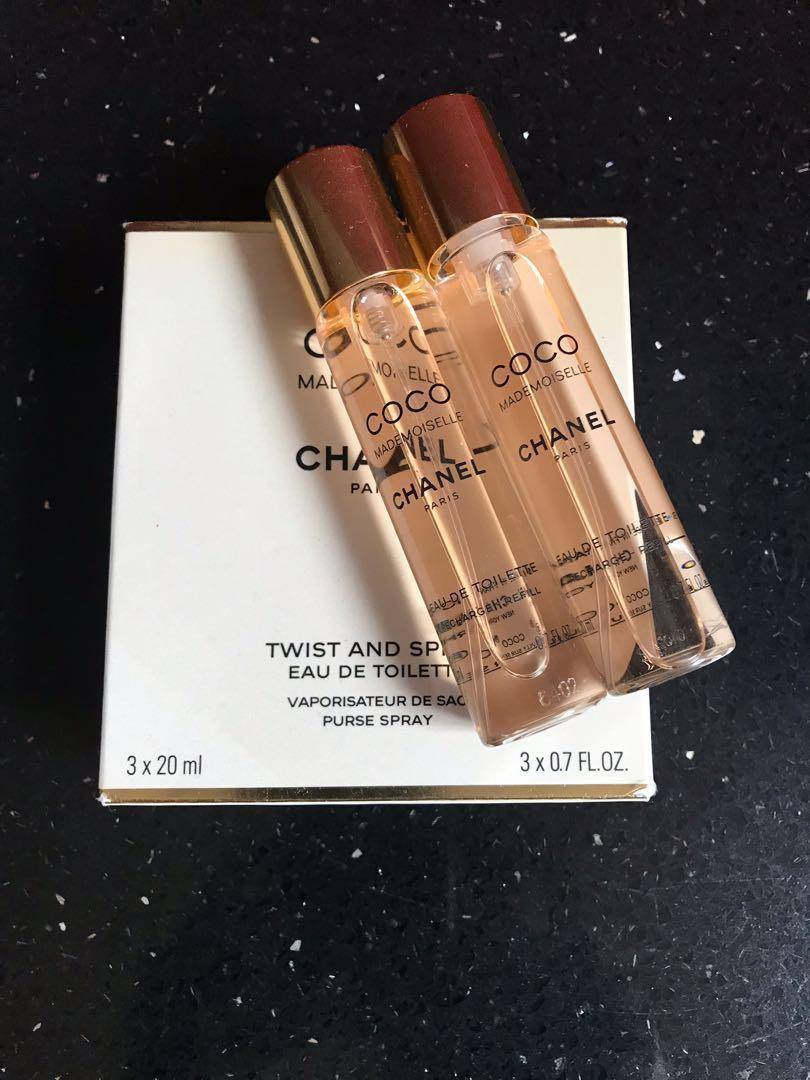 COCO MADEMOISELLE CHANEL AUTHENTIC PARFUM TRAVEL REFILL 2X20MIL PRICE IS FIRM