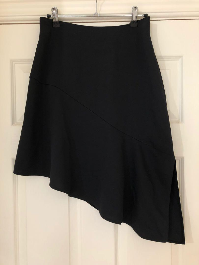 Country Road black asymmetrical skirt size 4 (fits AU 8)