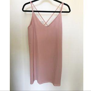 Dusty Pink Sleeveless Cross Back Singlet/Shirt