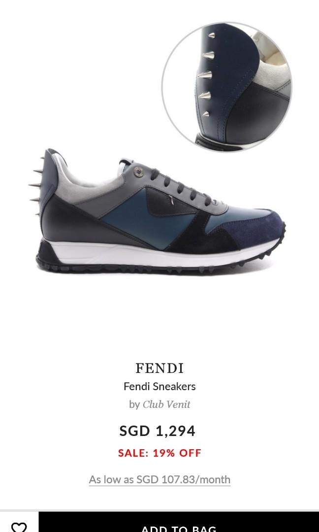Fendi shoes, Men's Fashion, Footwear