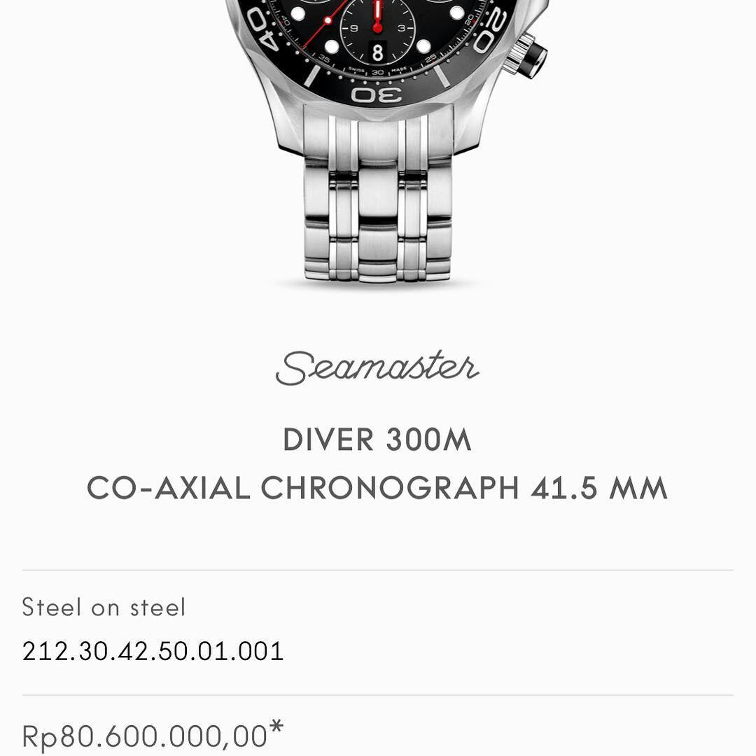 For Sale : Omega Seamaster Diver 300M / Automatic / 41.5 mm / Stainless steel / 52 hours power reserve / 26 jewel / Stamp july '18 / Price Only idr 55000000Nett / new price idr 80000000 Thx
