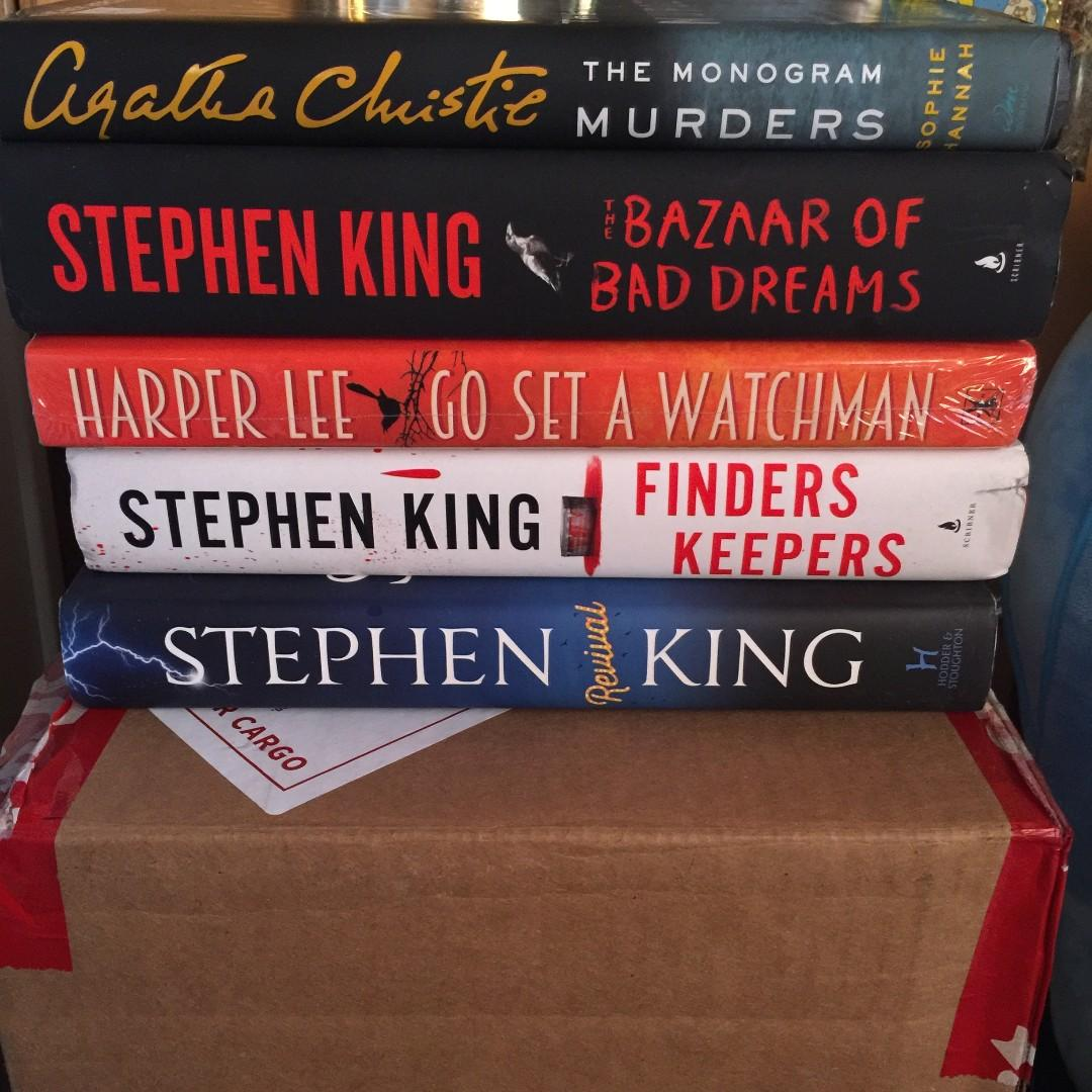 FREE SHIPPING | HARDCOVER BOOKS |  AGATHA CHRISTIE, STEPHEN KING, HARPER LEE, RANSOM RIGGS