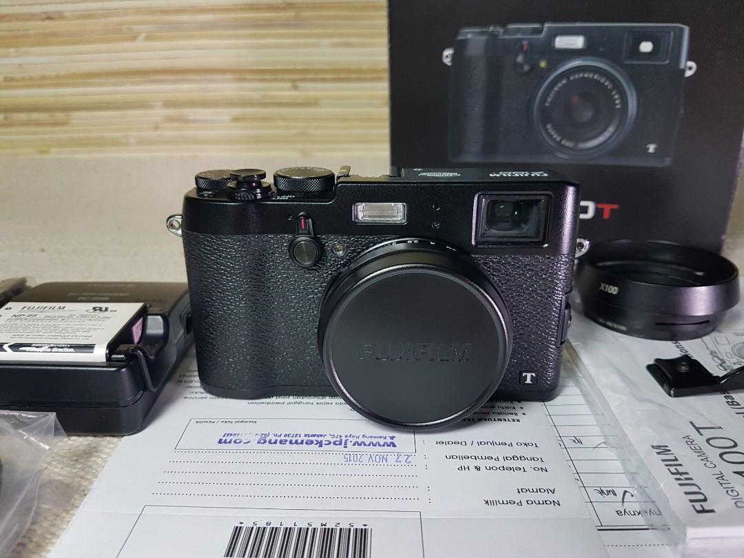 Fujifilm X-100T 23mm Mulus Lengkap Bonus