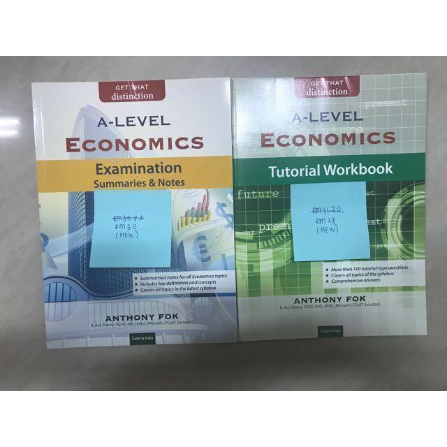 [GCE A LEVEL] Economics (AS & A2 Level) (PLEASE READ DESCRIPTION FOR FURTHER DETAILS)