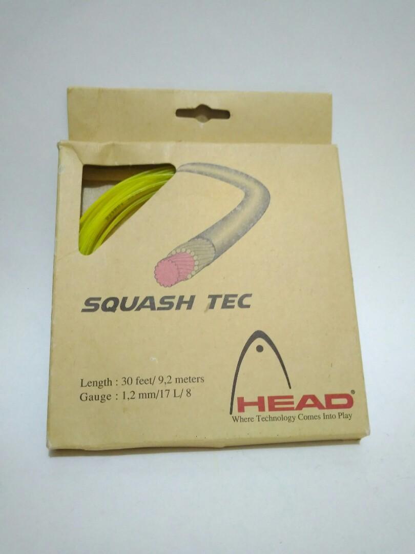 Head string squash tec for badminton racket