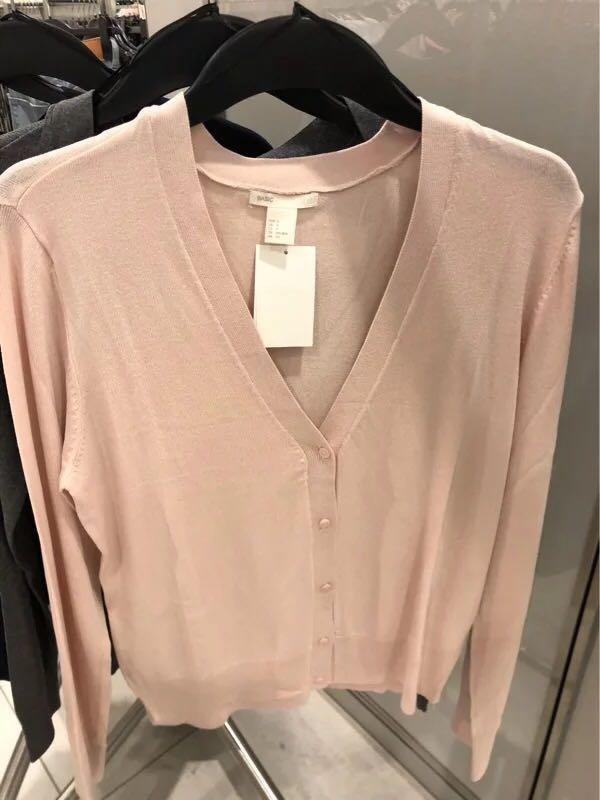 H&M pink cardigan jacket outer coat 100% real