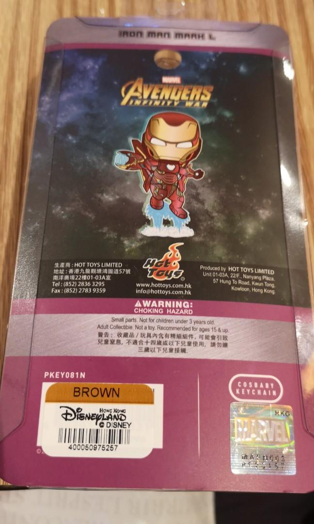 Iron man Infinity war disney hot toy key chain