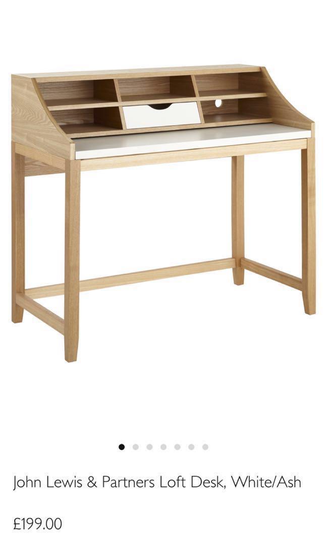 newest collection 8b38f b24ad John Lewis Desk - Wood/Ash