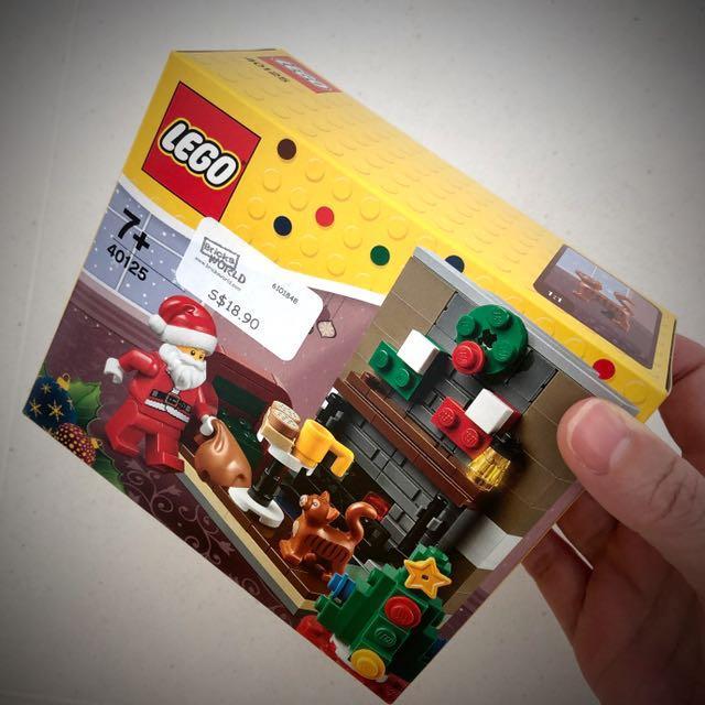 Lego Seasonal Set- Santa by the Chimney 40125