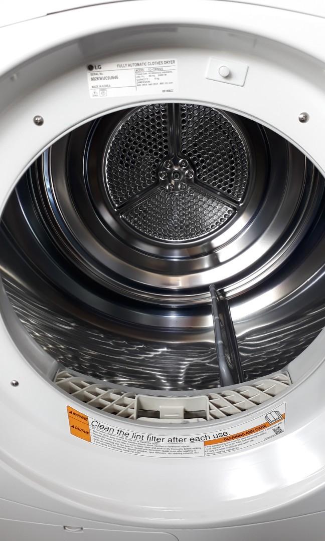 Lg 8kg condenser Dryer warranty 2 momths TD-C8066s look very