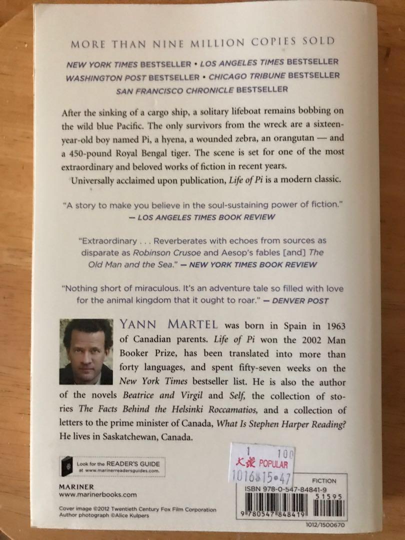 Life of Pi by Yann Martel #ENDGAMEyourExcess