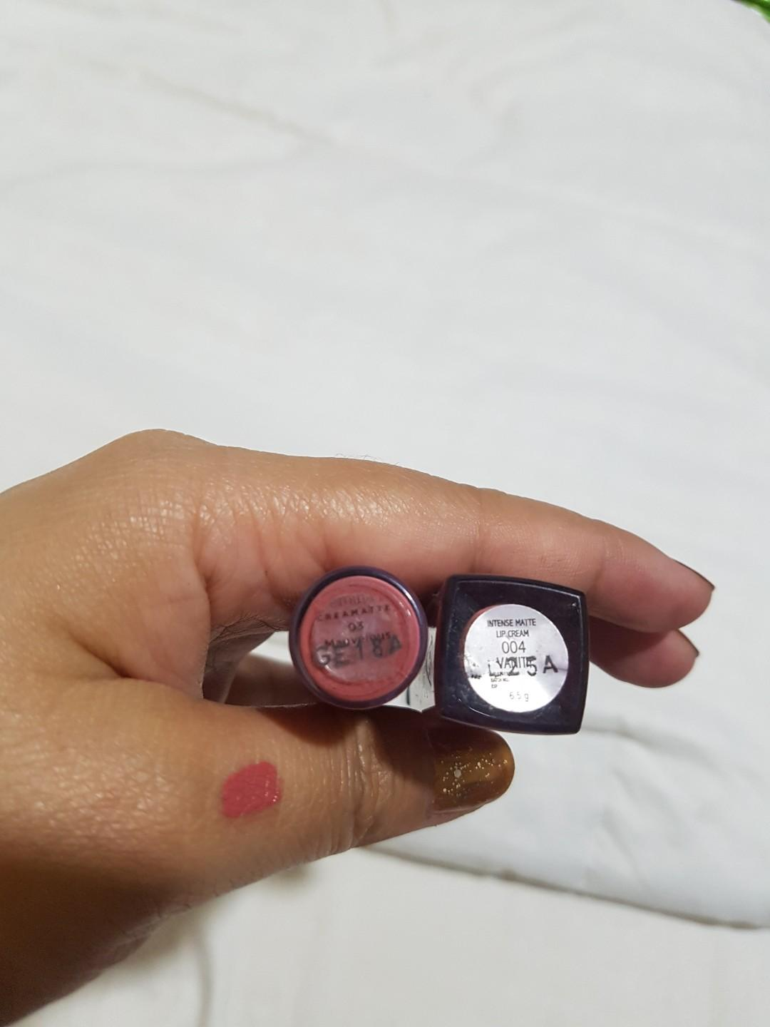 Make over intense matte lip cream 04 dan emina cream matte 03