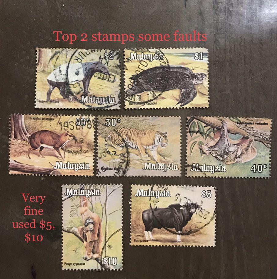 Malaysia 1970s Animals Set to $10 Used