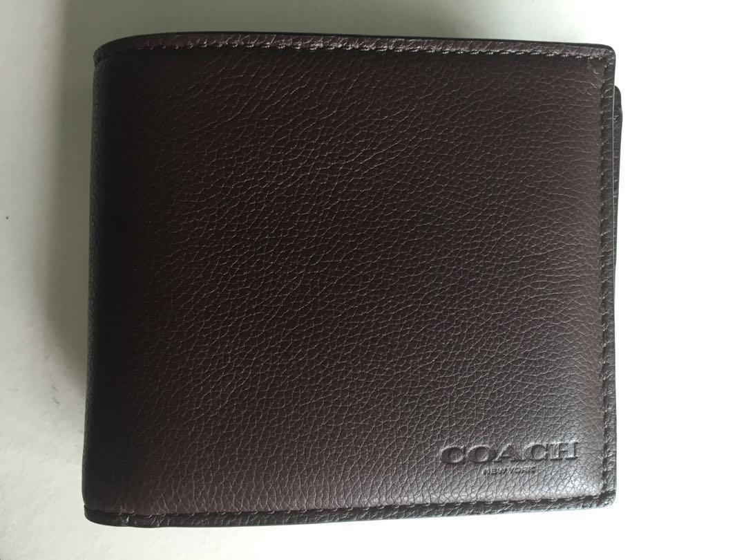 a438a05615 Men's Coach Wallet - Mahogany Brown colour