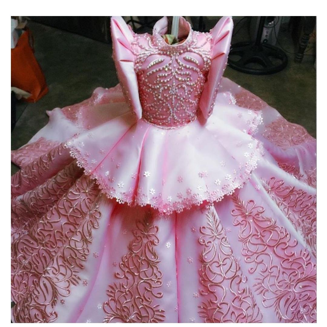 Modern Kid S Filipiniana Gown Can Be Rented For 5k With Deposit Used Once Babies Kids Girls Apparel 4 To 7 Years On Carousell