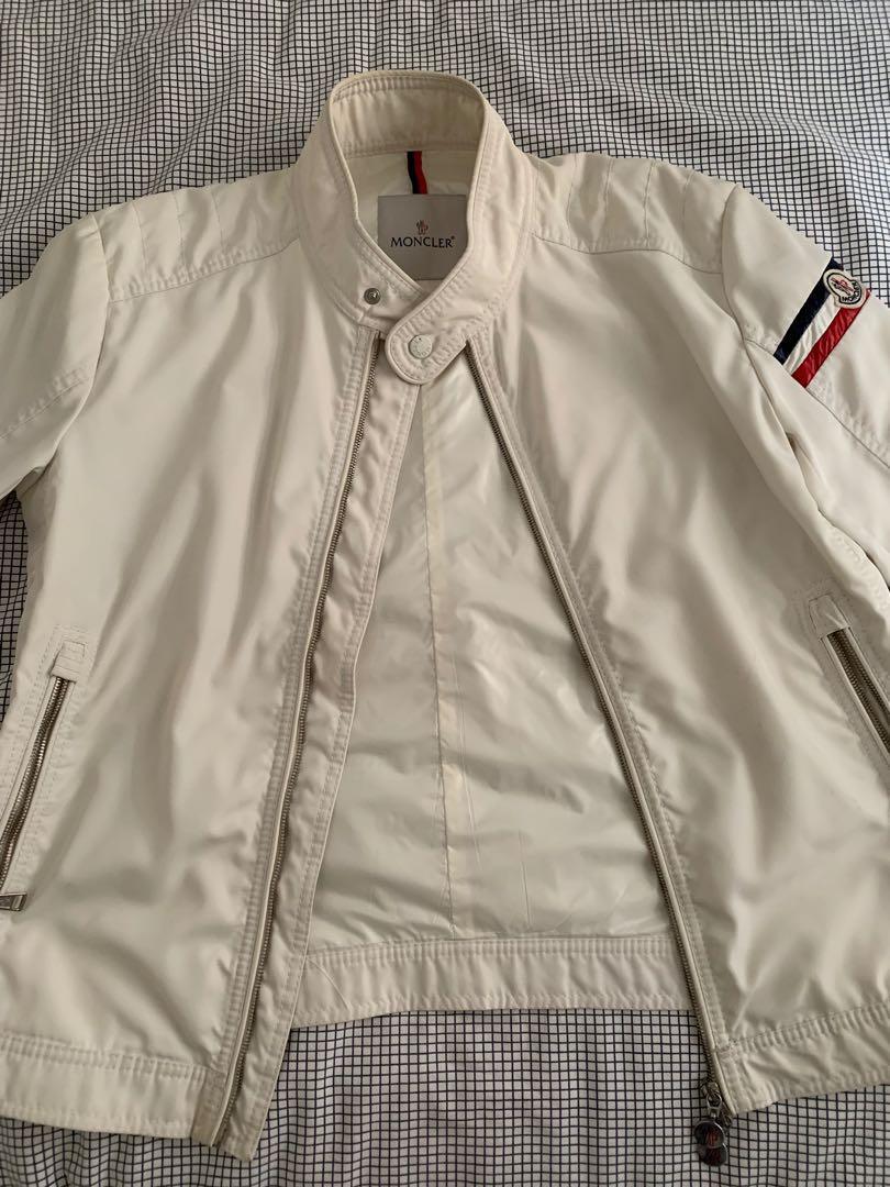 Moncler White Jacket Men L