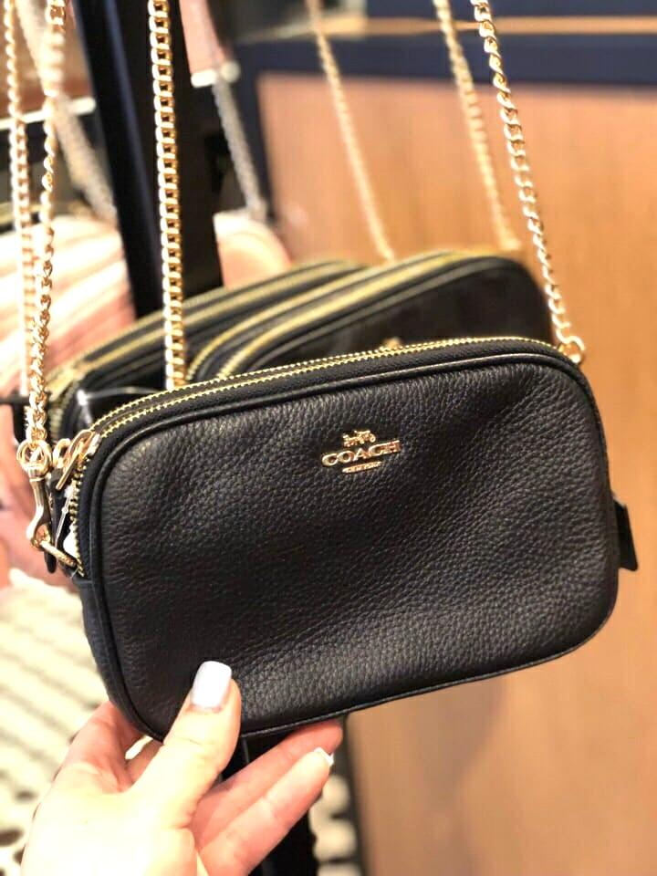 8659366915 MOTHER'S DAY - 200 ONLY! Coach Crossbody Chain Strap Bag - Black ...