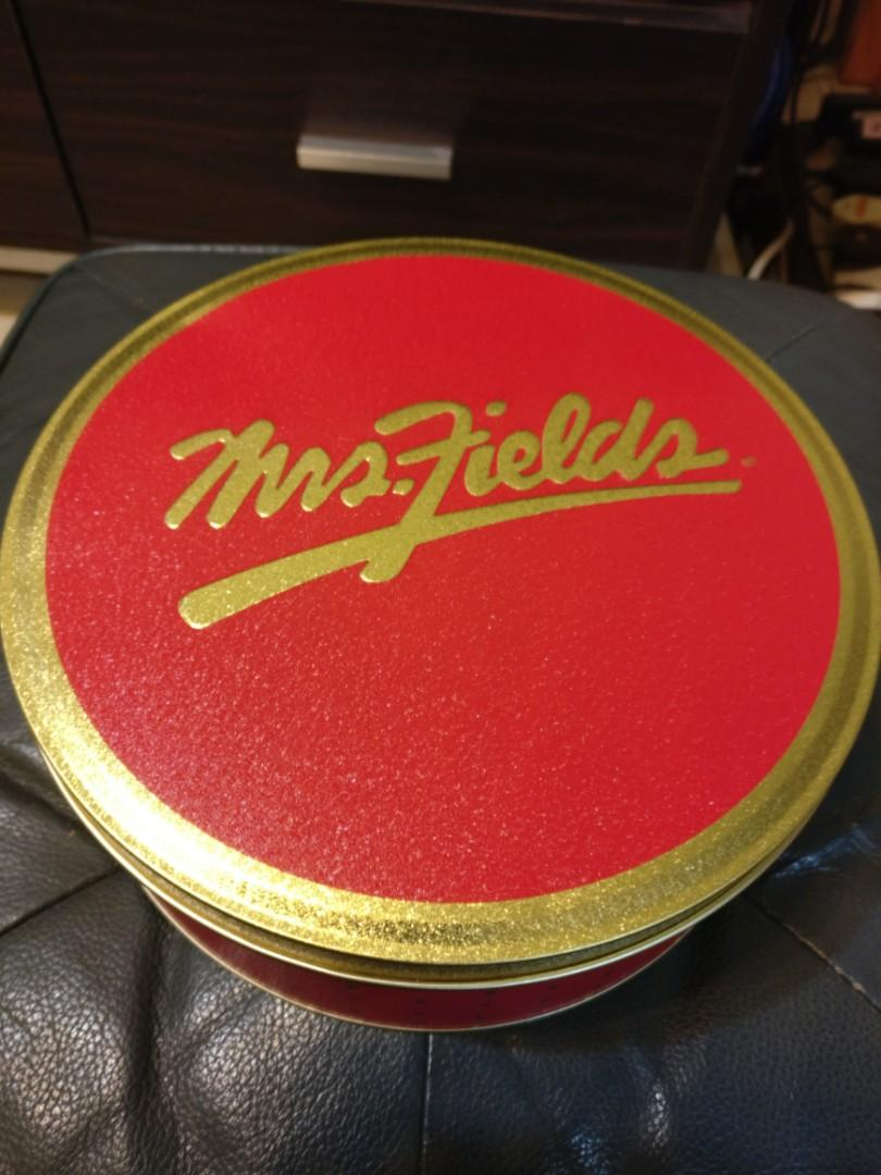 Mrs fields 曲奇cookies empty gift can 吉禮盒罐