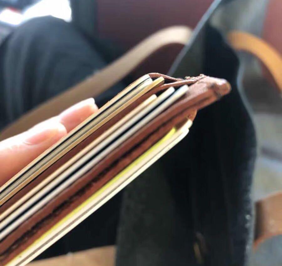 *New* Handmade Genuine Leather Business Card Holder Case Wallet