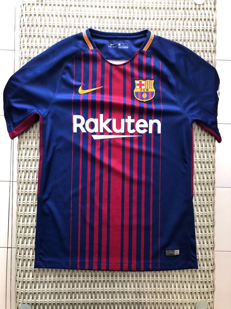 d529545a8f9 Nike 💯% Authentic Barcelona home jersey for SGD 42)