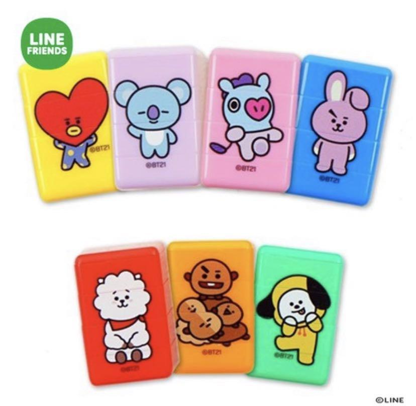 [po] bt21 official three piece stamps