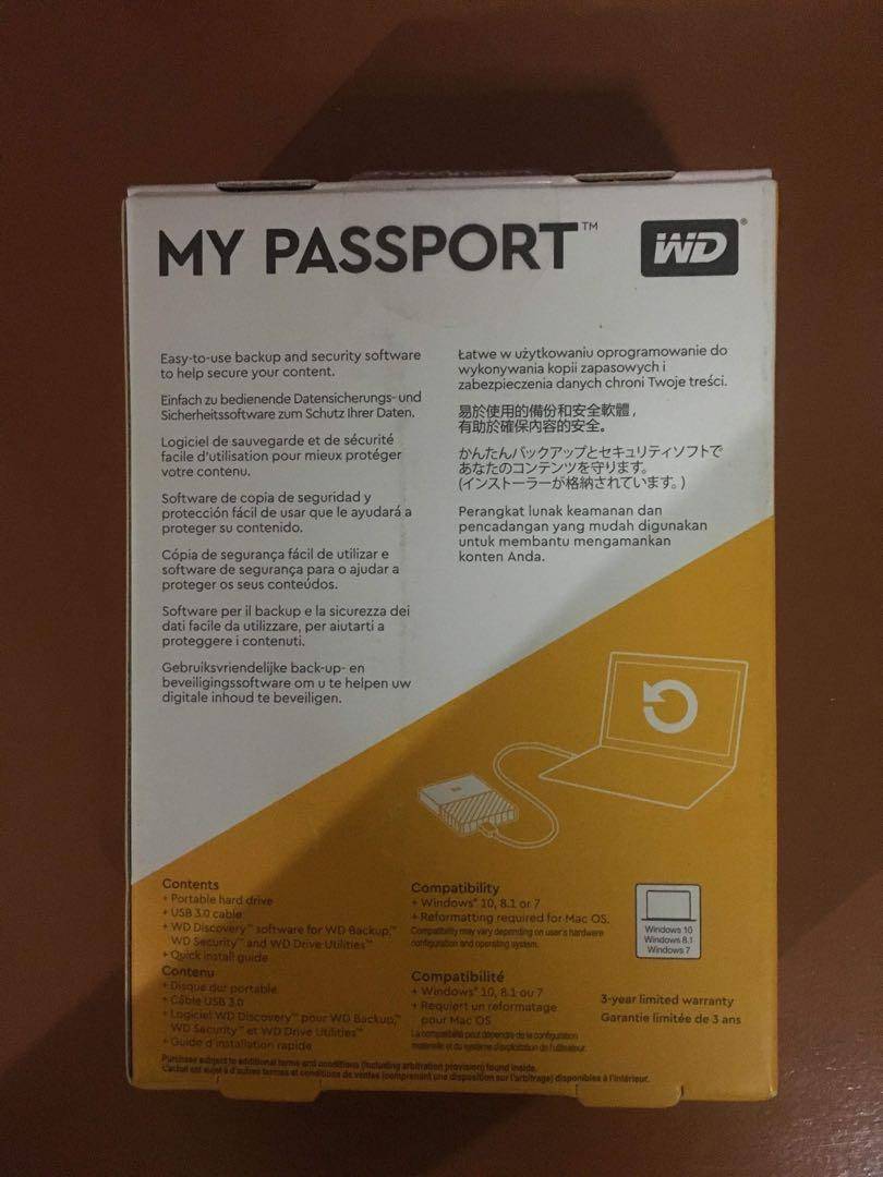 REPRICED: 2TB My Passport Portable External Hard Drive (New/Sealed