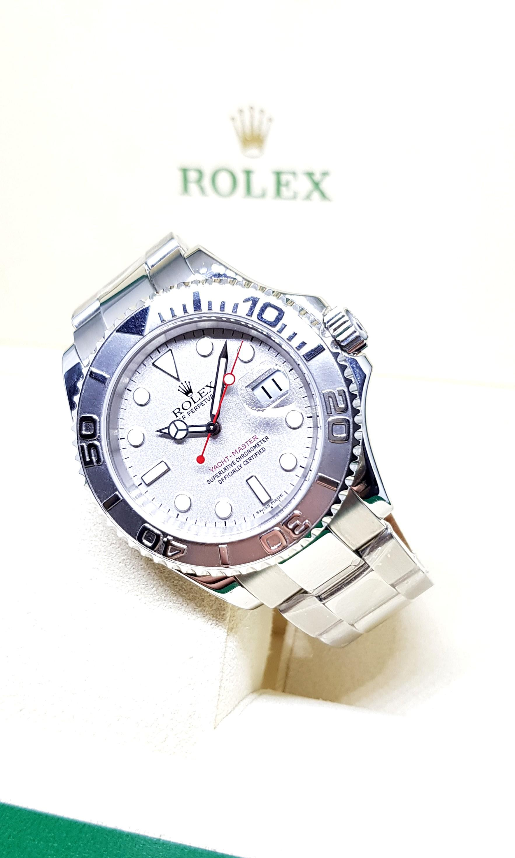 (NOT AVAILABLE) Rolex Platinium Yachtmaster 40mm REF: 16622