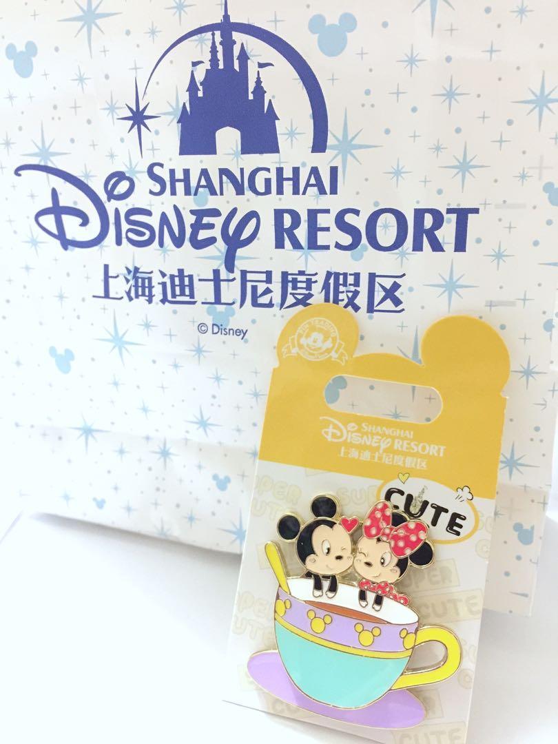 SH Disneyland Mickey and Minnie pin