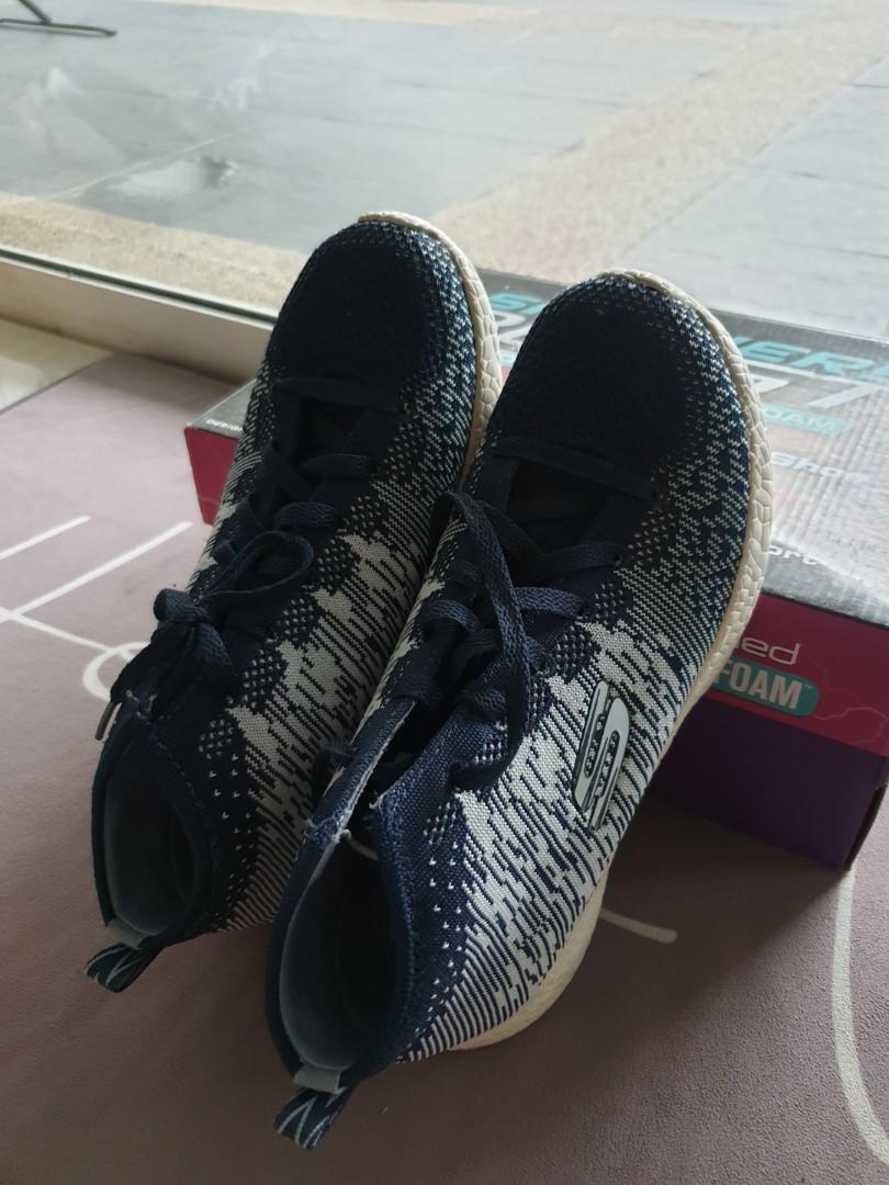 Skechers women high top sneakers blue