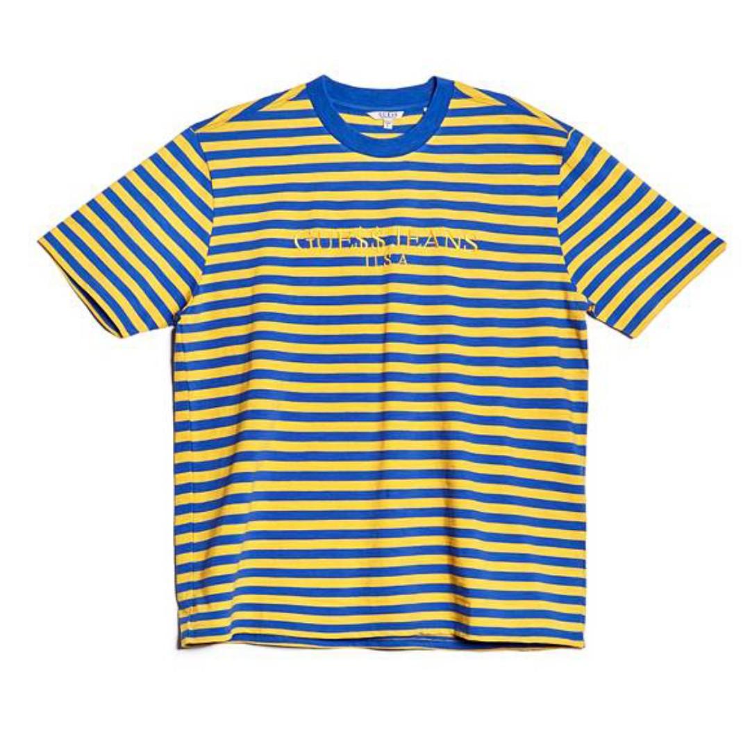 c7d0e60c78 Small Guess X ASAP Rocky David Reactive T-Shirt Yellow/Blue, Men's ...