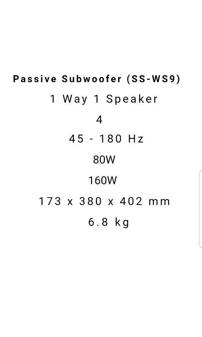 Sony Passive Subwoofer