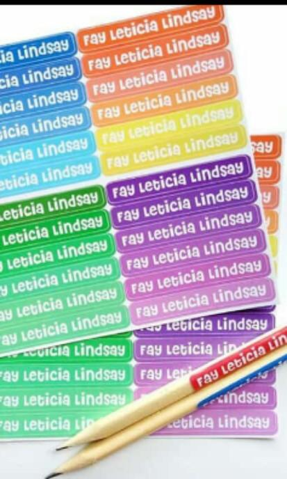 Sticker Label Nama