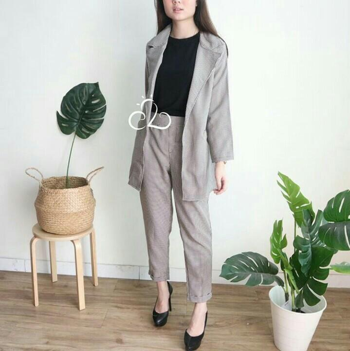 stood long blazer & pants