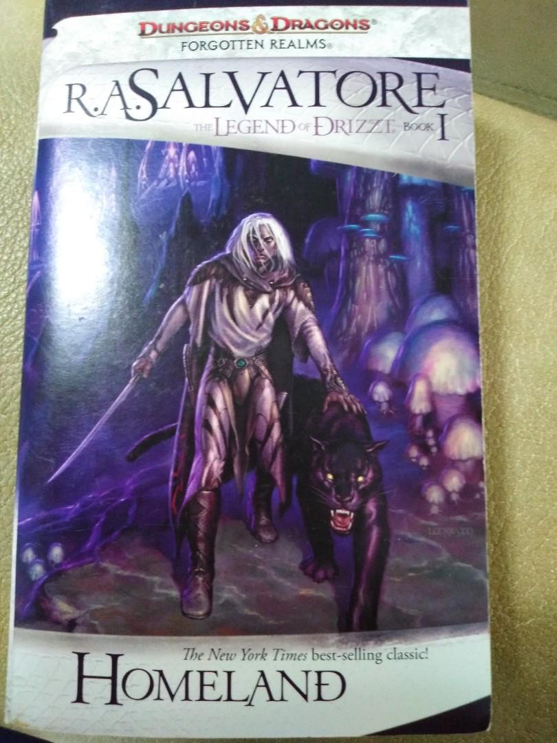 The Legend of Drizzt Book 1 Homeland on Carousell