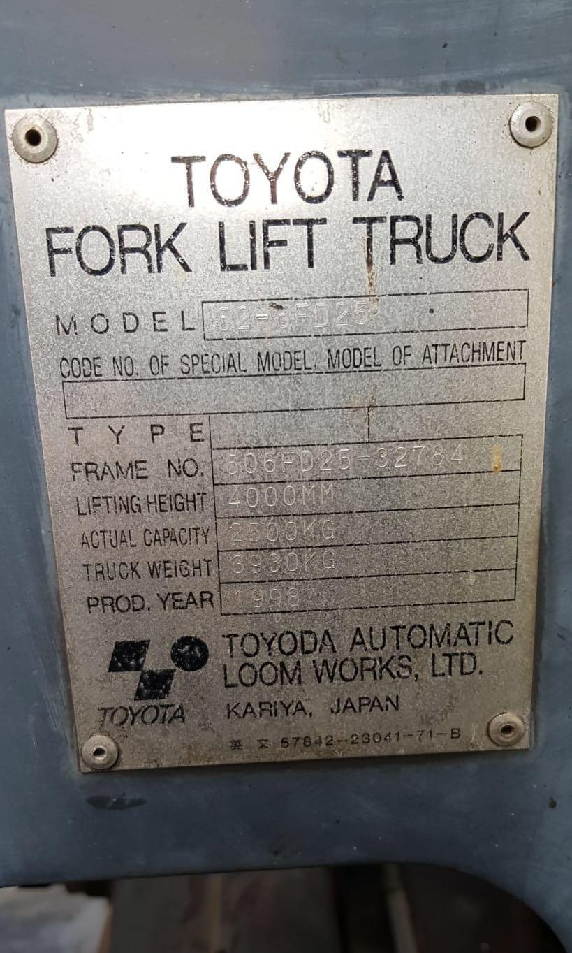Toyota forklift 2.5Ton