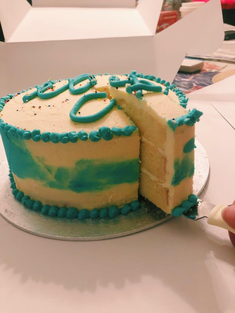 Triple layer Vanilla Birthday Cake